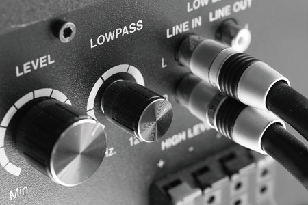 Two stereo-wires are included in the mixer  photo