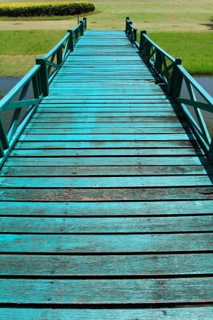 Wooden bridge in garden Stock Photo - 10384390