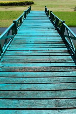 Wooden bridge in garden Stock Photo - 10384390