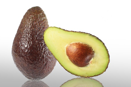 hass: Avocados on a white background  Stock Photo