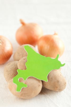 onions: Hokkaido potatoes and onions