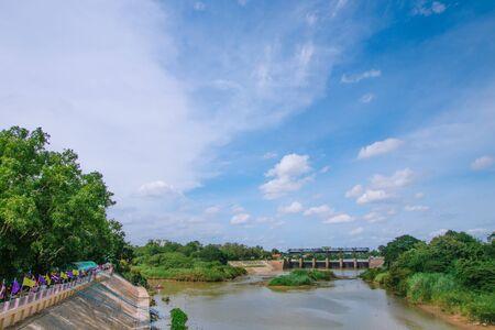 Rama VI Dam at Pa Sak River in Thailand
