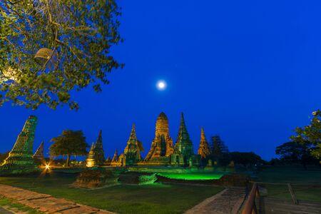Wat Chaiwatthanaram Temple in Phra Nakhon Si Ayutthaya Historical Park, an important tourist destination in Thailand