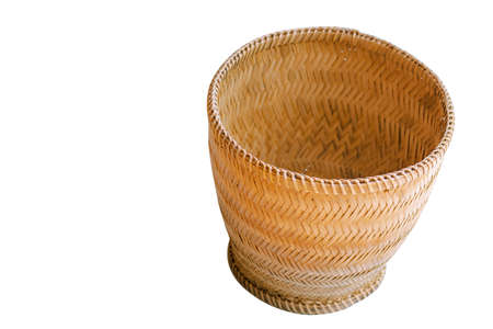 Glutinous rice box made from bamboo Is a container for steamed glutinous rice Stock fotó