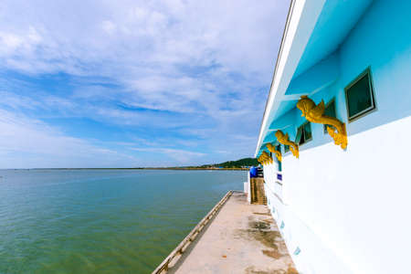 Beautiful sea views and clear skies in Chon Buri Province in Thailand Stock fotó