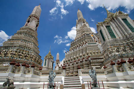 Wat Arun Rachawararam is a beautiful temple and one of the main attractions of Bangkok in Thailand.