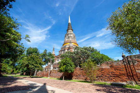 Wat Yai Chaimongkol is another beautiful temple and is also an important tourist attraction in Phra Nakhon Si Ayutthaya Province in Thailand.