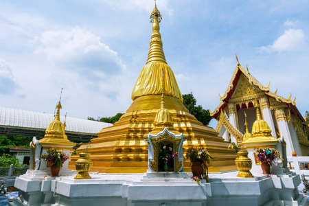 Phai Lom Temple at Ko Kred in Nonthaburi Province in Thailand