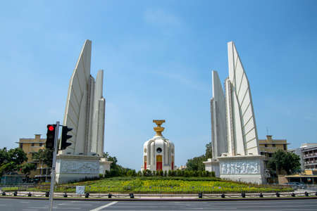 Democracy Monument is a constitutional historical monument located in the heart of Bangkok, the capital city of Thailand.