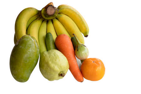 Fresh fruit isolated on a white background