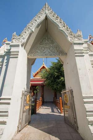 LDS Archway at Wat Phanancheng Worawihan in Phra Nakhon Si Ayutthaya Province, Thailand