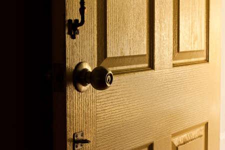 door at  evening
