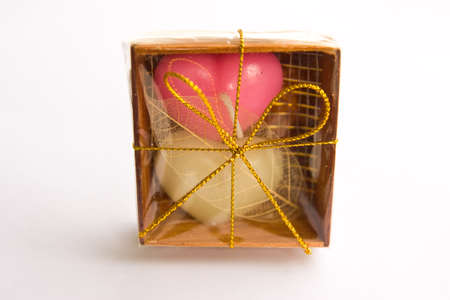 two hearts  in box