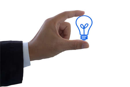 hand holding a light bulb Stock Photo
