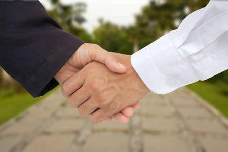 business hand shack