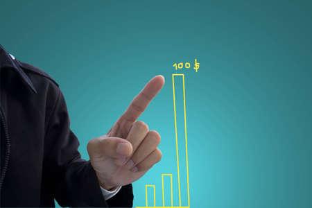 hand pushing graph