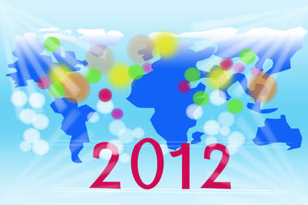 2012 New Year celebration background for cover photo