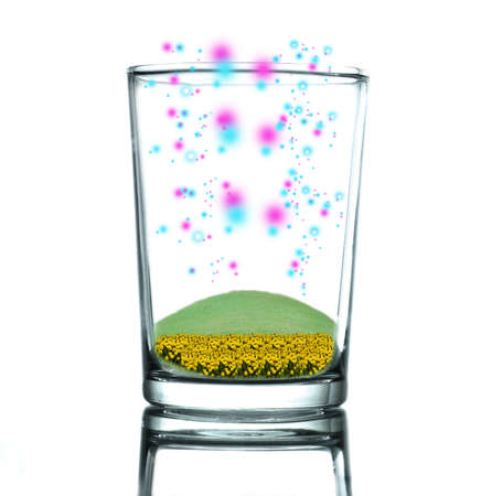 colorful of light in glass Stock Photo