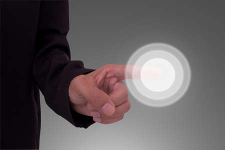 Business hand touch screen