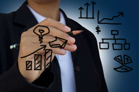 business hand writing Stock Photo