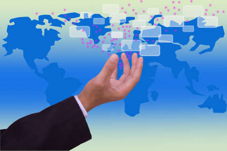 social network and communication Stock Photo