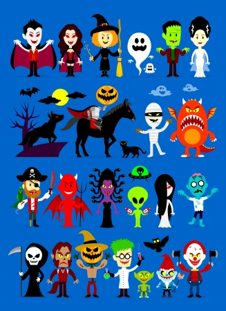 Monsters Mash Halloween Characters