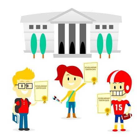 yetenekli: Yetenekli Öğrenciler Got Burs Sertifikalar Çizim