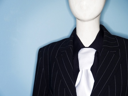 Photo of faceless dummy model dressed in business suit and tie Stock Photo - 9321246