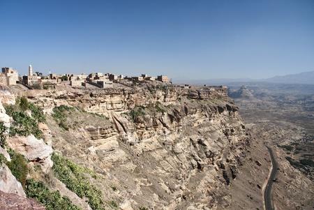 yemen: kawkaban mountain village near sanaa yemen