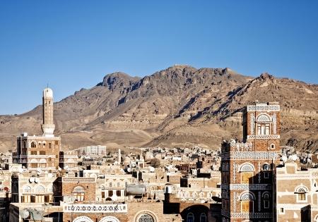 yemen: sanaa old town, yemen - traditional yemeni architecture