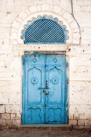 doorway in massawa eritrea with ottoman influence  Stock Photo