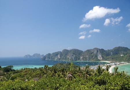 koś: ko phi phi island in thailand Stock Photo