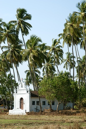 catholic chapel: catholic chapel in interior goa, india