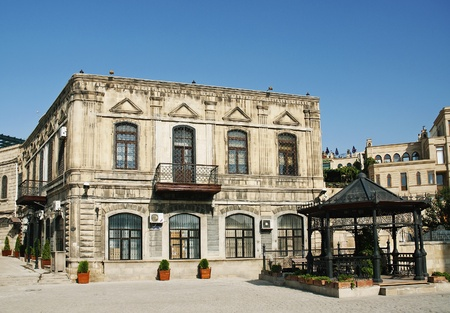 baku old town square in azerbaijan Stock Photo