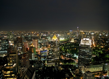 bangkok skyline view by night Stock Photo - 10452507