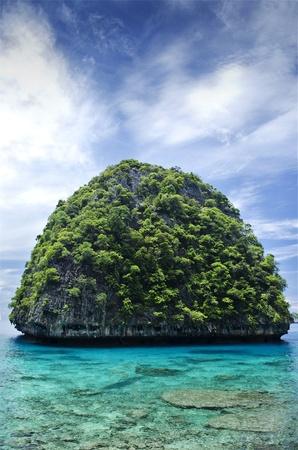 phi phi island: boat in ko phi phi island thailand