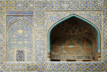 mosque tiles in isfahan iran Stock Photo