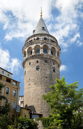 galata tower exterior in istanbul turkey Stock Photo