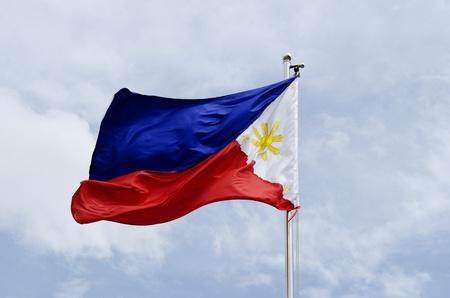 phillipine: phillipines flag on flagpost