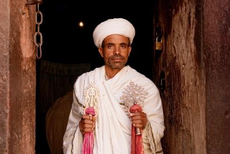 priest at lalibela churches in ethiopia Stock Photo - 13684847