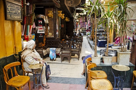famous el fishawy cafe in cairo souk egypt