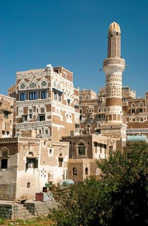 yemen: sanaa old town in yemen