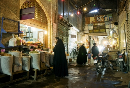 esfahan: indoor market in esfahan iran