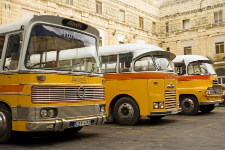 vintage old british buses in malta
