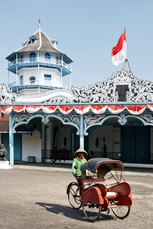 cycle taxi in surakarta indonesia Editorial