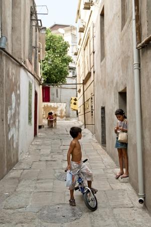 baku: old town street baku azerbaijan