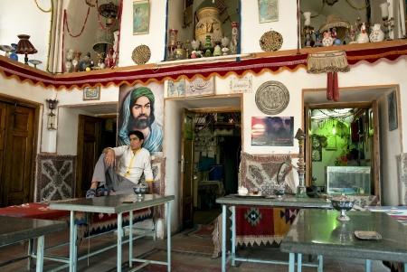 esfahan: tea house in esfahan, iran