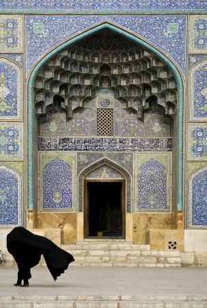 esfahan: mosque door in isfahan esfahan iran
