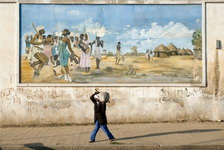 eritrea: mural in asmara street eritrea Editorial