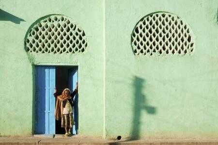 filles musulmanes de mosquée à Harar en Ethiopie afrique Banque d'images - 15203647
